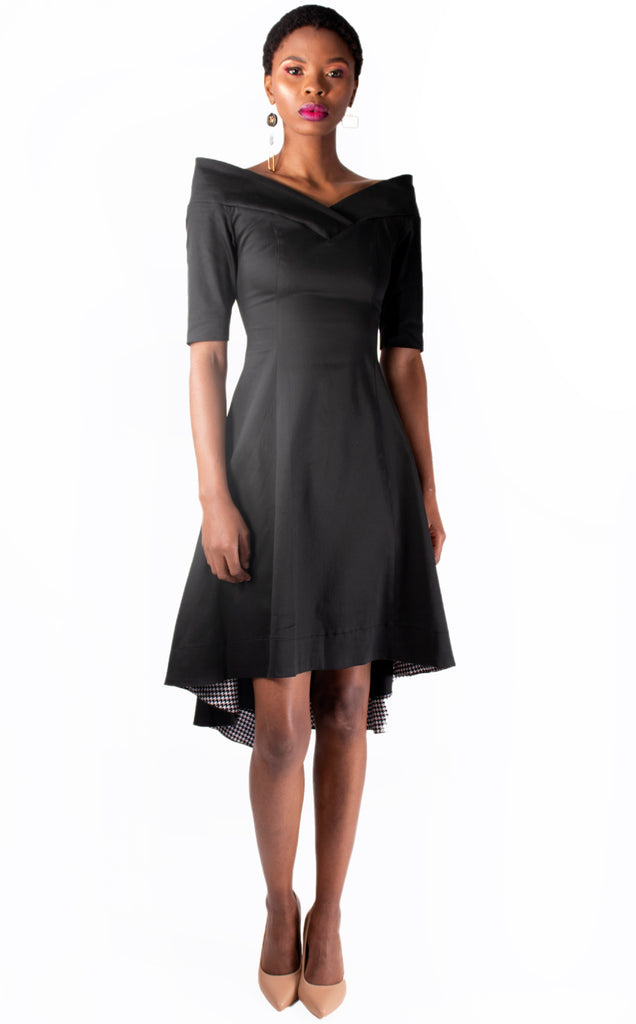 Ivanka Dress - Black Front Short Long Back Summer Dress