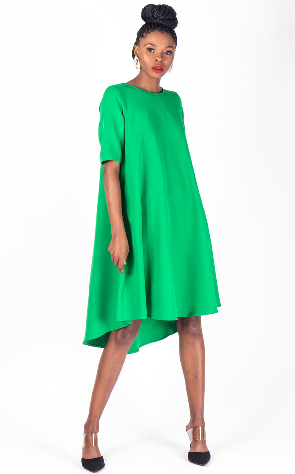 Swing Dress Bright Green