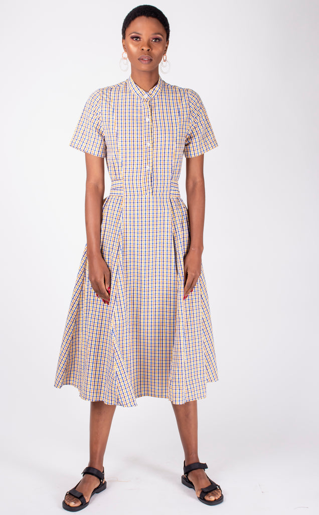 Mathlo Dress - Checked Cotton Summer Dress