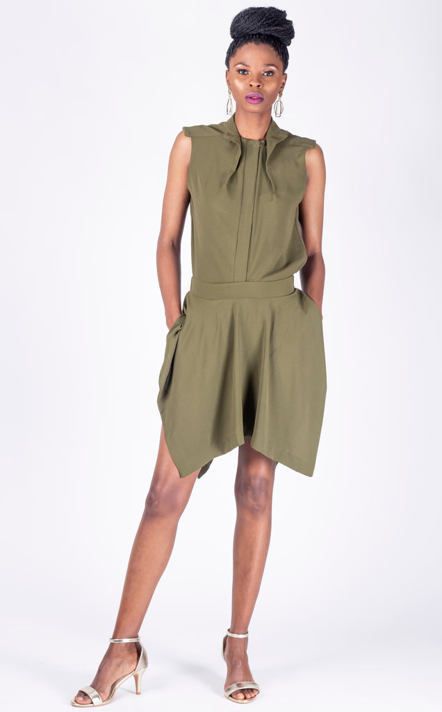 Ferdi Scort - asymmetrical skirt-like shorts