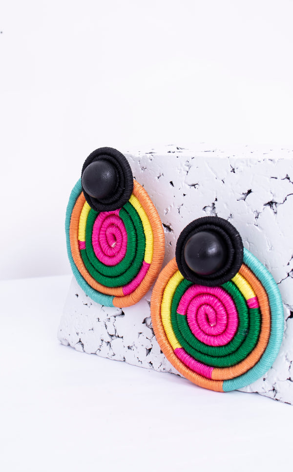 Round Rainbow Earrings