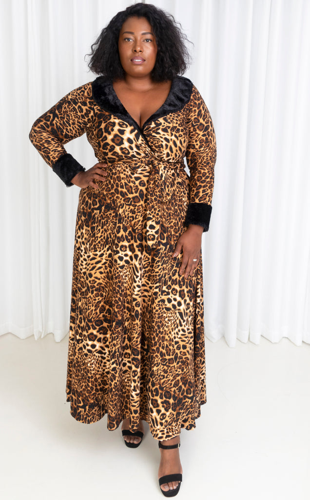 Leopard print Kupa wrap dress