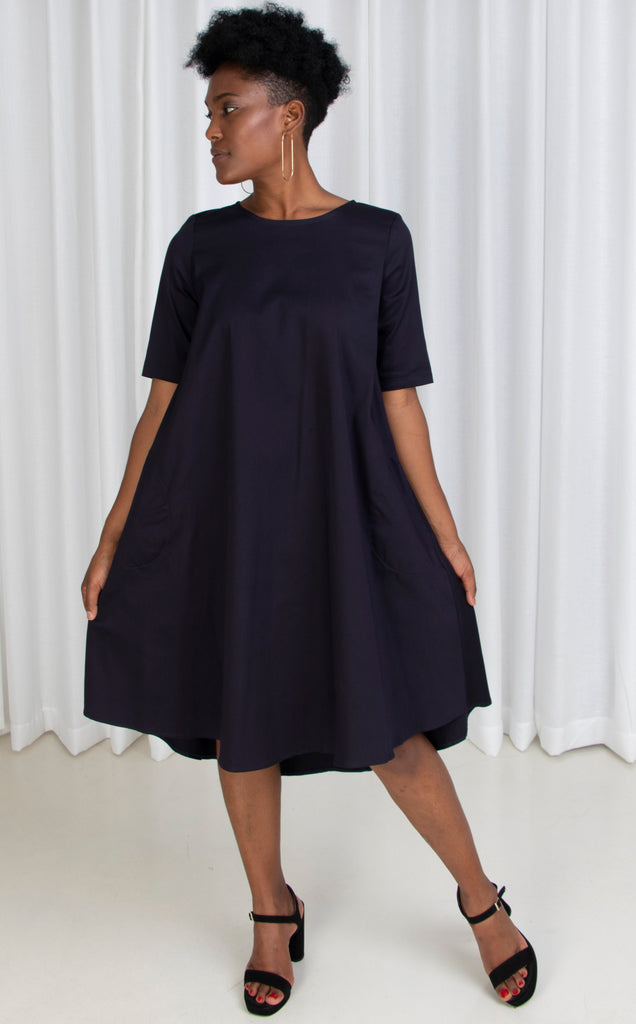 Swing Dress French Navy