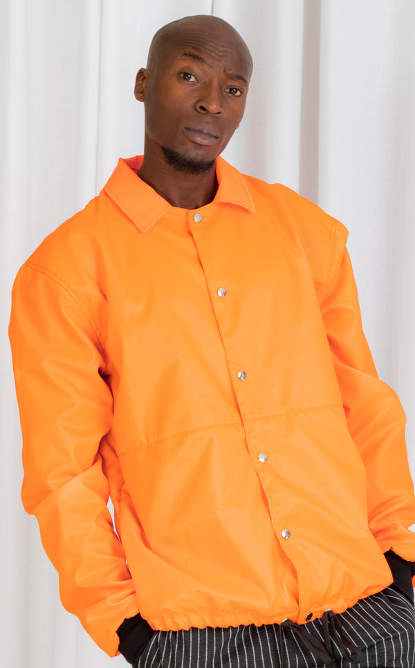 Orange Active Shirt Jacket
