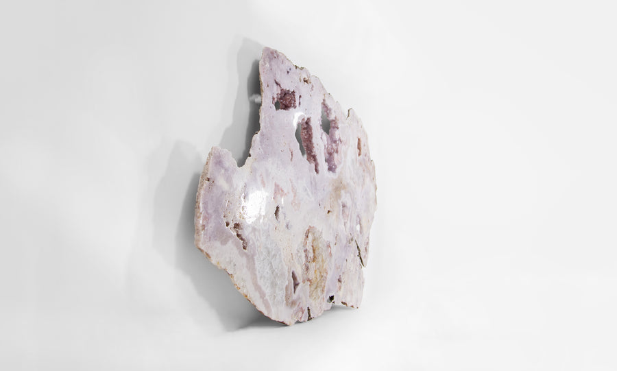 Interior Lavender Amethyst Wall Plate Displaying Fine Quartz Cavities