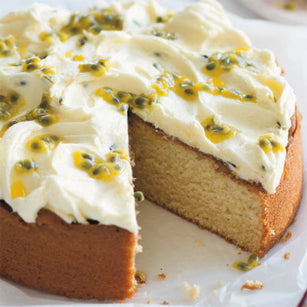 Recipe Feature: Vanilla Cake with Passionfruit Buttercream
