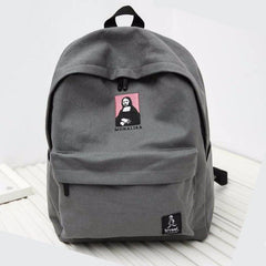 """Mona Lisa"" Embroidered Vintage Backpack"
