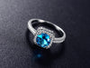 Image of Blue Zircon December Birthstone Ring