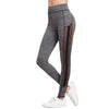 Image of High Waisted Grey/Black Marled Knit Leggings