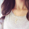 Image of Cute sequin Charm Stars & Moon Necklace
