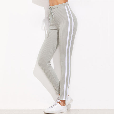 Lovely High Waisted Drawstring Sweatpants