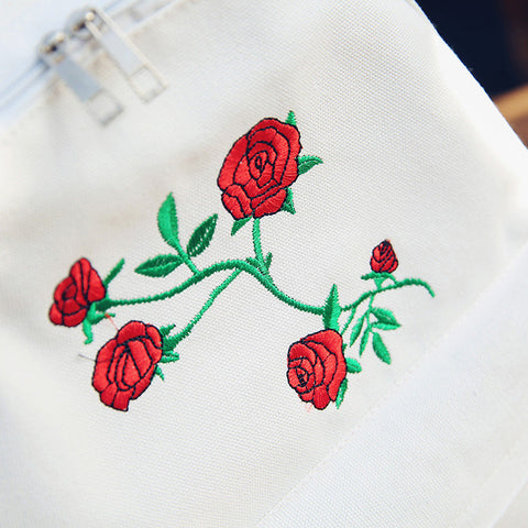 """Rosey Dreams"" Embroidered Vintage Backpack"