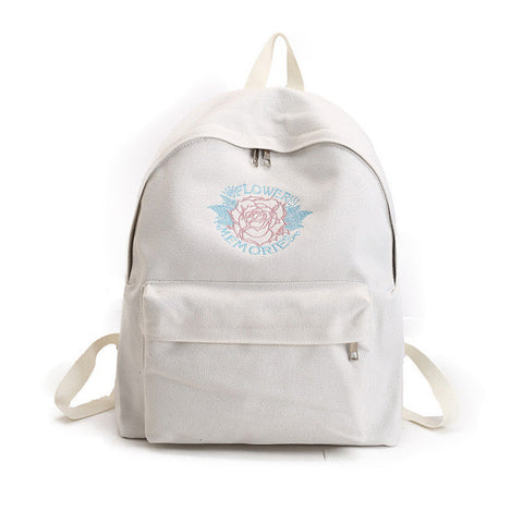 """Flowery Memories"" Embroidered Vintage Backpack"