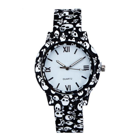 Skull Style Quartz Watch