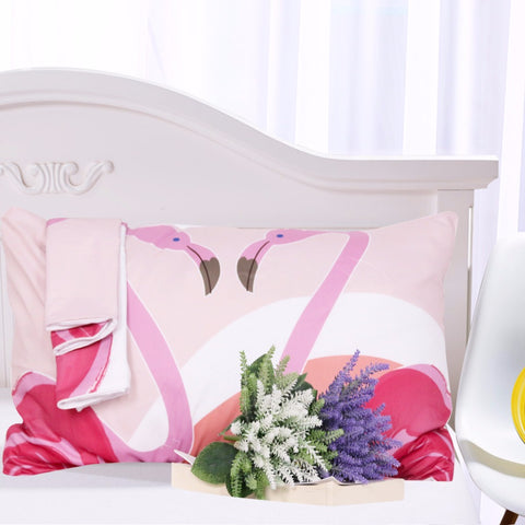 Rainbow Flamingo Bedding Set