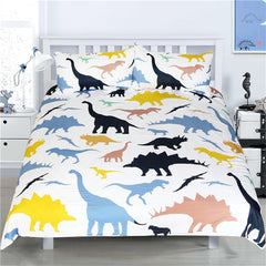 Colorful Dinosaurs Bedding Set