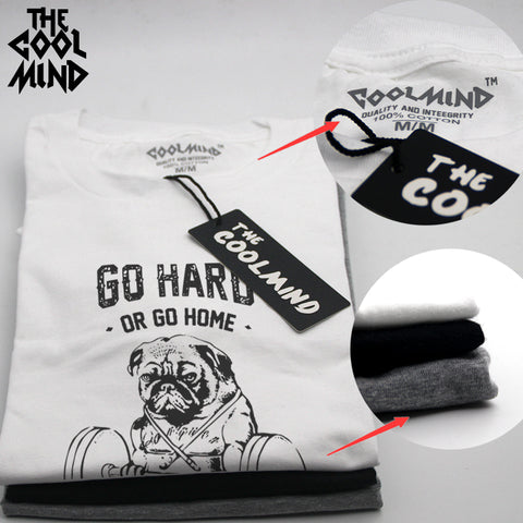 """Go Hard or Go Home"" Pug Shirt"