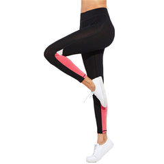 Sporty White/Pink Blocked Leggings