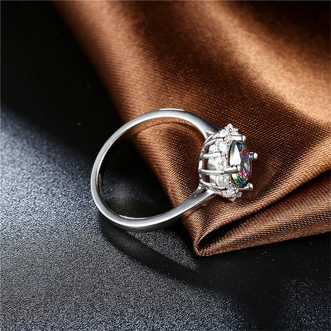 Lovely Zircon December Birthstone Ring