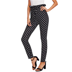High Waisted Polka Dot Skinny Pants