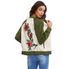 Image of Floral Embroidered Bomber Jacket