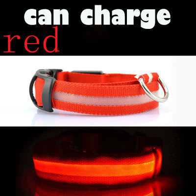 LED Dog Collar USB Charge Glowing Light