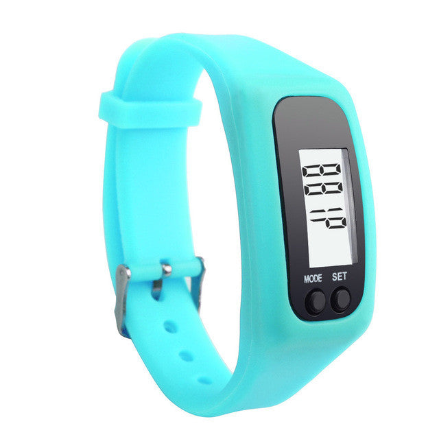 Digital LCD Pedometer Run Step Calorie Counter Bracelet