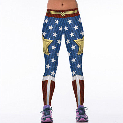 Women's Superhero 3D Printed Workout Leggings