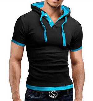 Men's Summer Fashion Hooded Sling Short-Sleeved Tees
