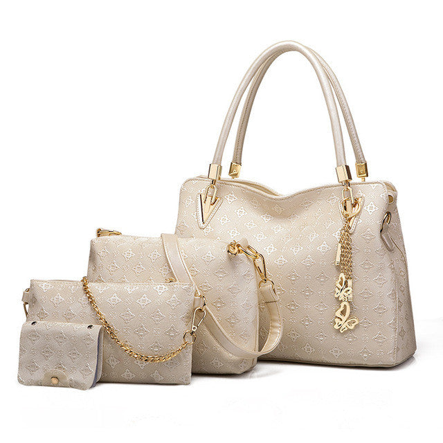 Trendy Fashion Handbag Set - 4pc