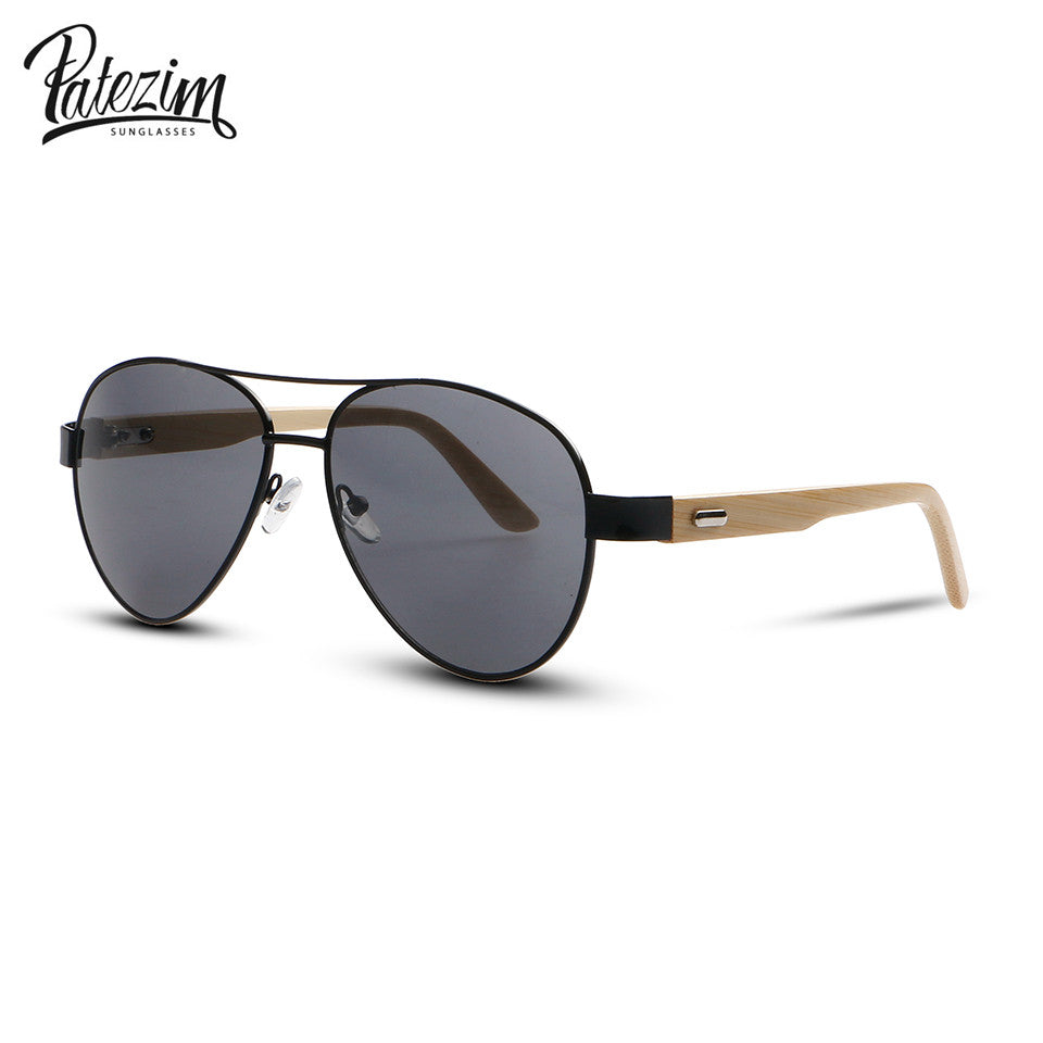 Patezim Unisex Wood Sunglasses