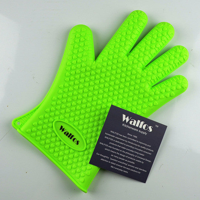 Heat Resistant Silicone Kitchen Cooking Gloves