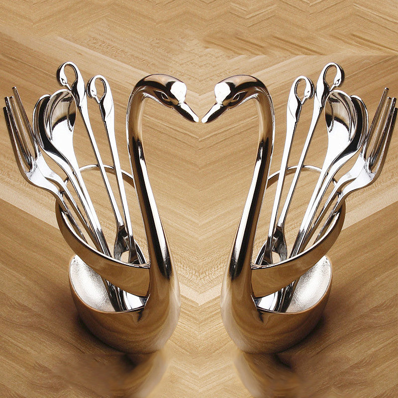 Swan Stainless Steel Tableware Holder