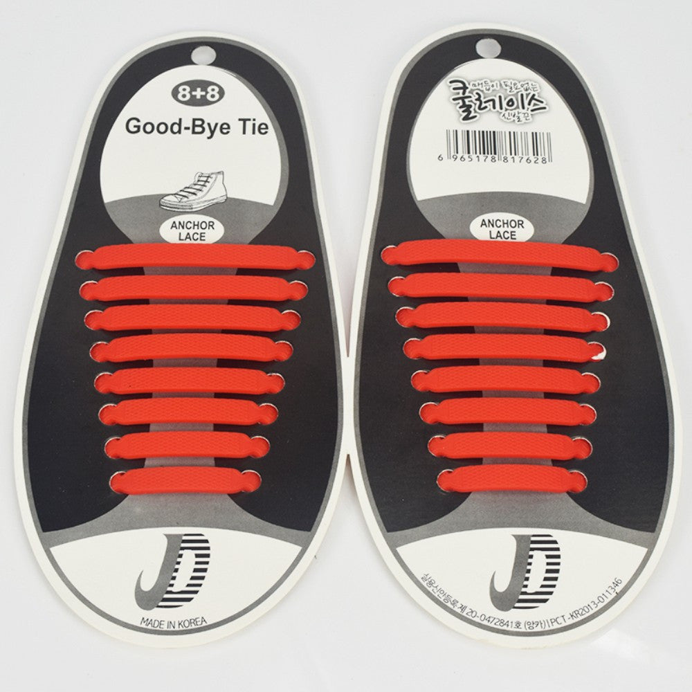 No Tie Silicone Shoelaces for Running/Jogging/Sports Fitness/Triathlon