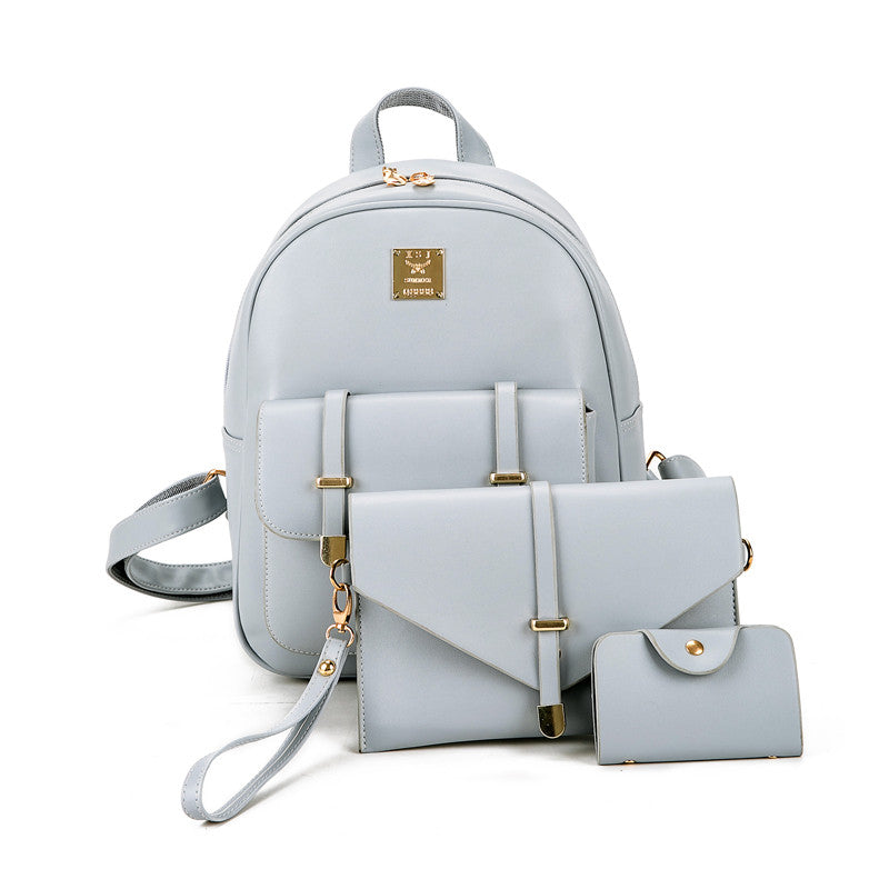 Leather Backpack for Women - 3pcs/set