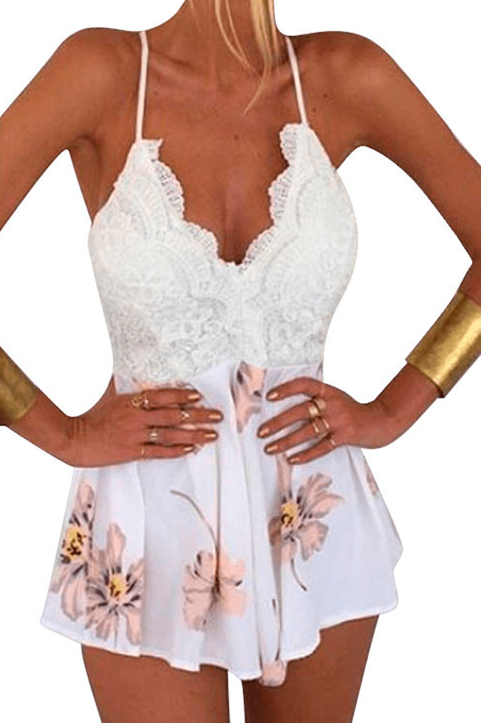 Floral Lace Playsuit