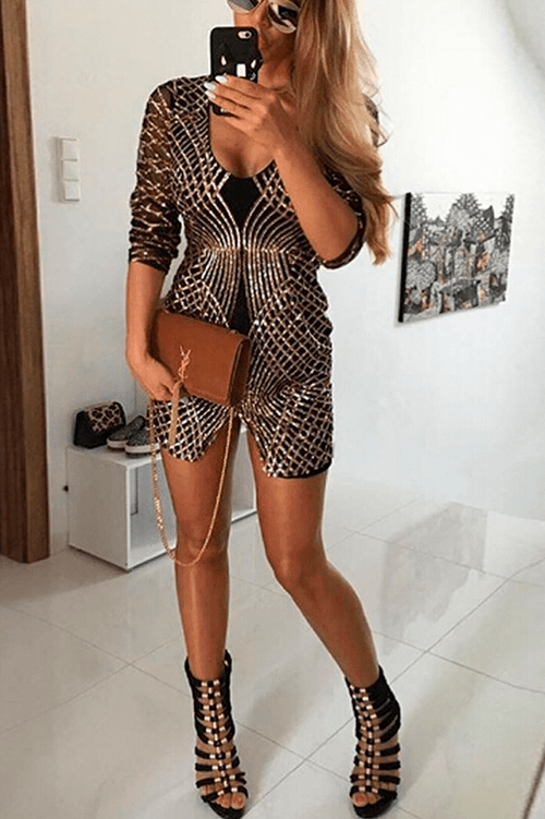 Zaira Sequin Dress