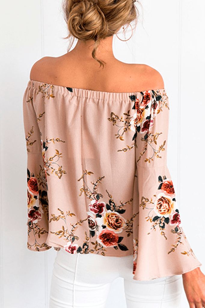 Flower Off Shoulder Blouse