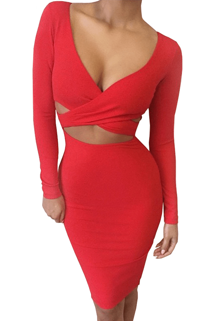 Twisted Cut-Out Dress