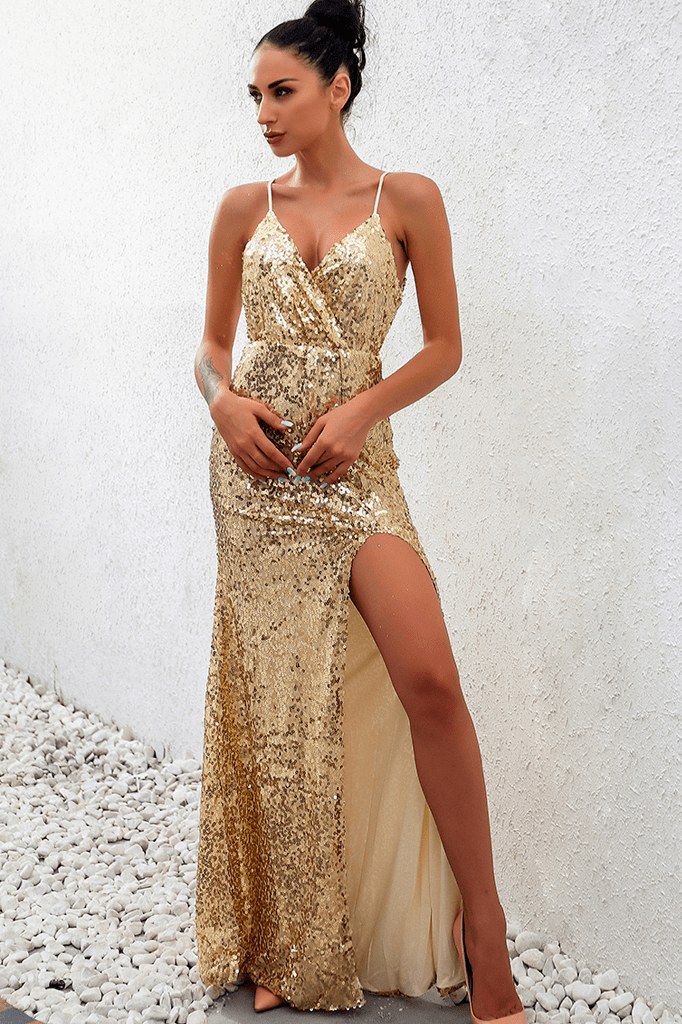 Naomi Sequin Maxi Dress