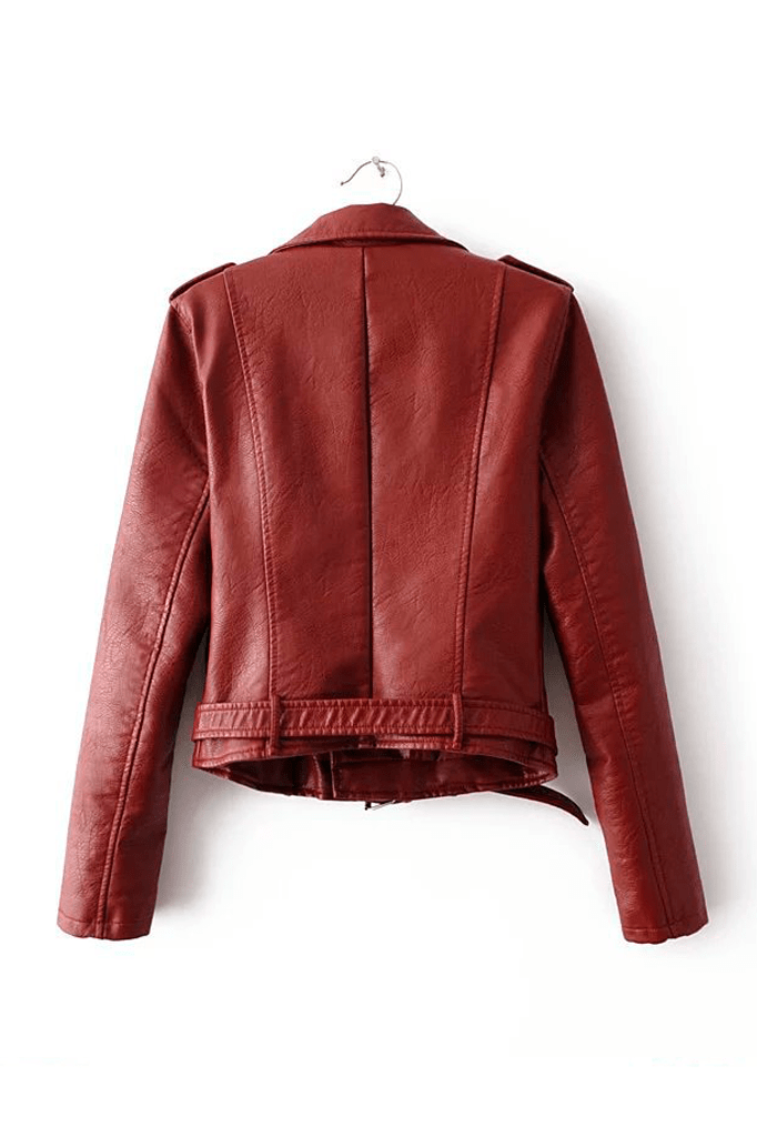Classic Faux Leather Jacket