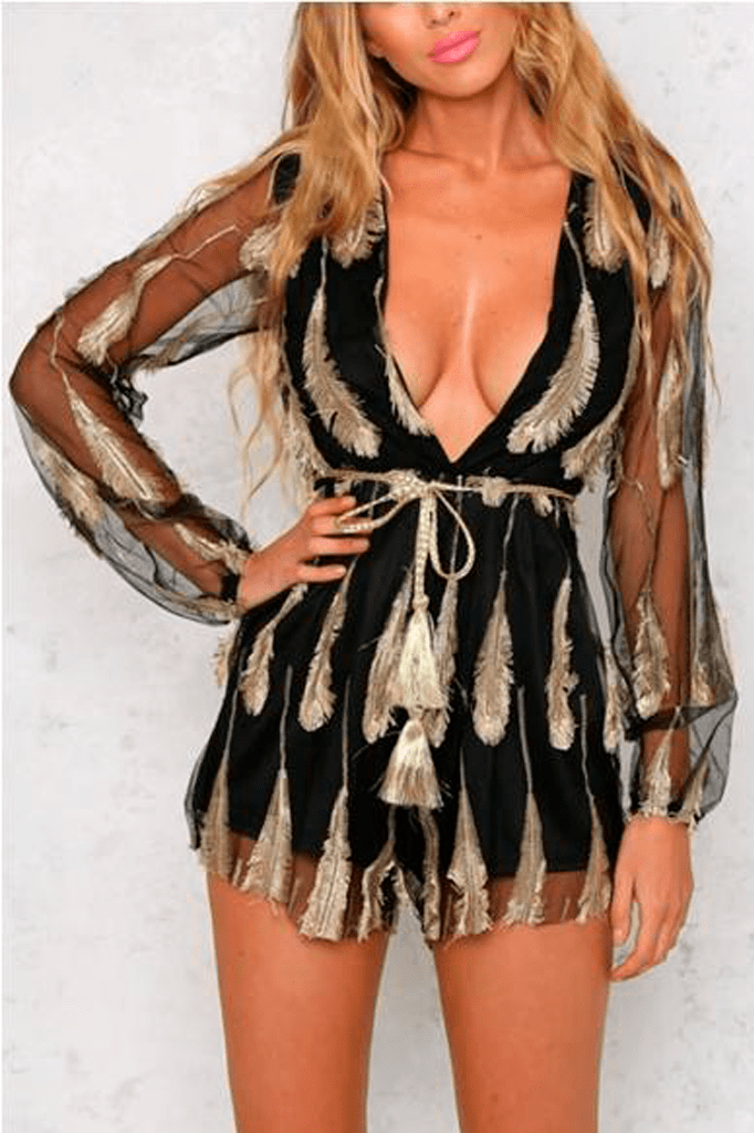 Feather Playsuit