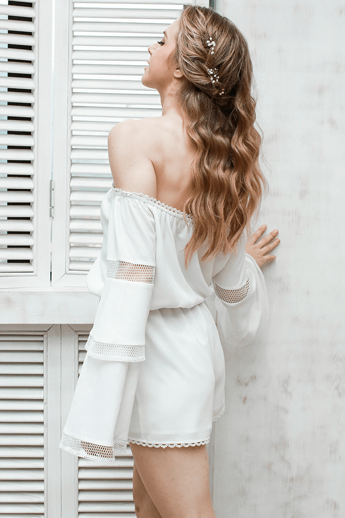 Off Shoulder Playsuit