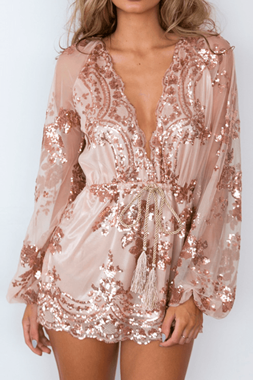 Desi Sequin Playsuit