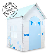 Cardboard playhouse home sweet home blue version