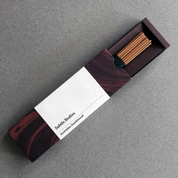 Australian Sandalwood Incense with box open