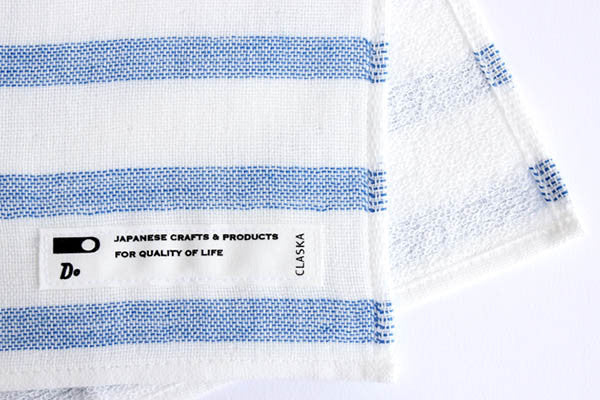 Japanese Face Towel - Blue Stripe