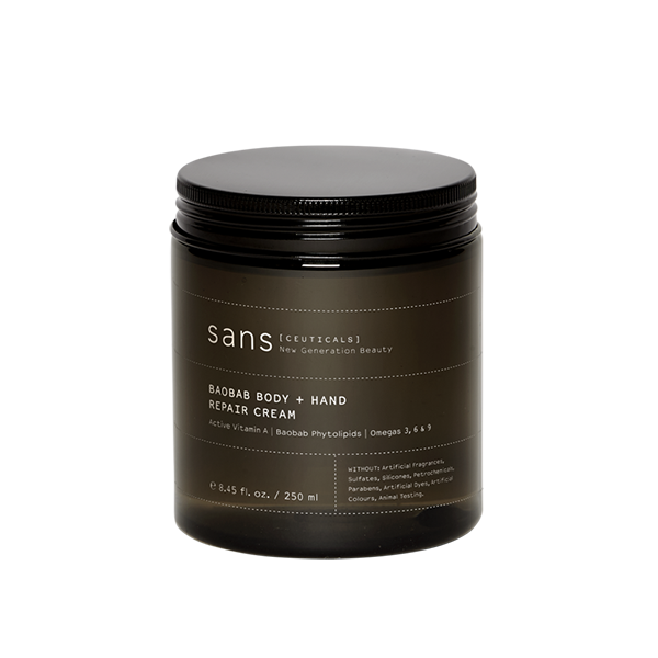 Sans [ceuticals] Baobab Body + Hand Repair Cream - 250ml Tub