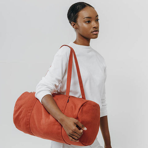 Canvas Duffle Bag Rust