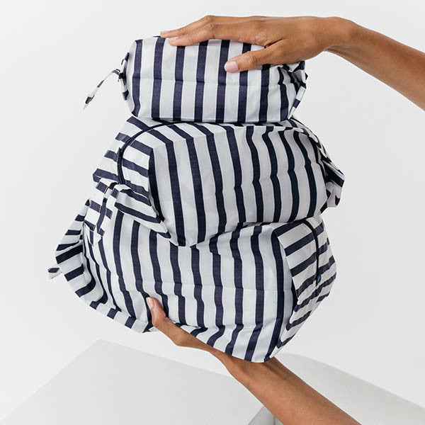 Set of 3 Travel Zip Packs - Stripe